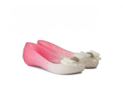 Baleriny Sca'viola 870 Pink, Róż/Biały, Silikon