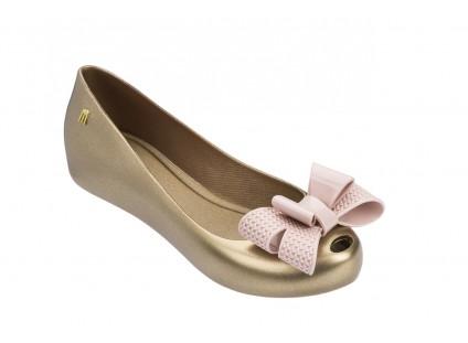 Baleriny Melissa Ultragirl Sweet XV Ad Gold Pink, Złoty, Guma