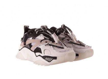 Sneakersy Sca'viola E-39 White-Black, Biały/ Czarny, Skóra naturalna