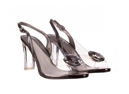 Sandały Sca'viola G-17 Silver, Srebrny, Silikon