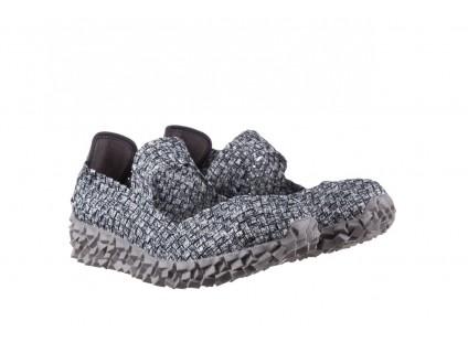 Półbuty Rock Koala Black Grey S Smoke, Biały/ Szary, Materiał