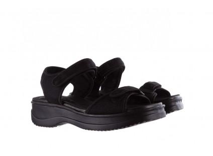 Sandały Azaleia 320 321 Black Black 20, Czarny, Materiał