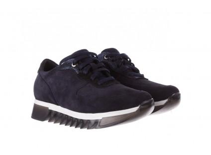 Sneakersy Bayla-185 185 106 Granat, Skóra naturalna