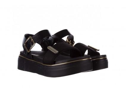 Sandały Azaleia 400 290 Napa Snow Black-Black, Czarny, Skóra ekologiczna/ Materiał