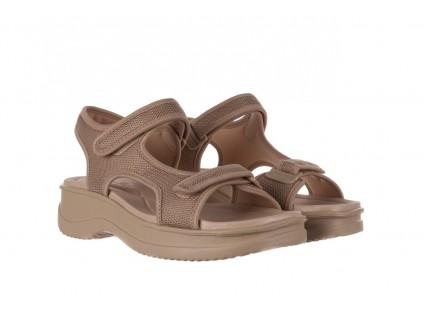Sandały Azaleia 320 323 Beige Sand 20, Beż, Materiał