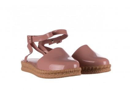 Sandały Melissa Espadrille + Jason Wu Ad Pink Beige, Róż, Guma