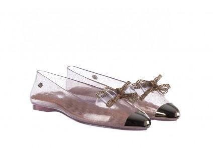 Baleriny T&G Fashion 22-1444997 Ouro, Złoty, Guma