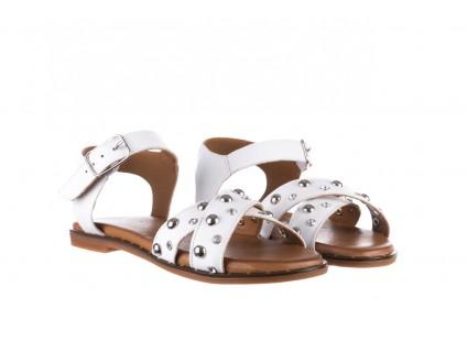 Sandały Bayla-176 122 Biały, Skóra naturalna