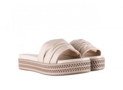 Klapki Azaleia 397 190 Napa Stretch Ivory, Beż, Skóra ekologiczna