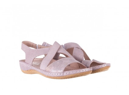 Sandały Bayla-100 449 Lila, Skóra naturalna