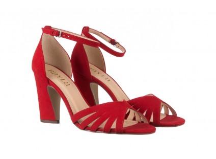 Sandały Bayla-065 6140138 Czerwony, Skóra naturalna
