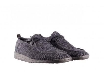 Półbuty HeyDude Wally Knit Multi Grey, Granat/ Szary, Materiał