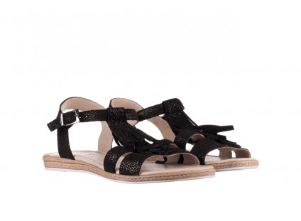Sandały Bayla-100 454 Czarny, Skóra naturalna