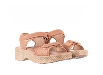 Sandały Azaleia 321 293 Nude, Beż, Materiał