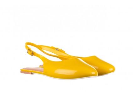 Sandały Melissa Lipstick Ad Yellow Brown White, Żółty, Guma