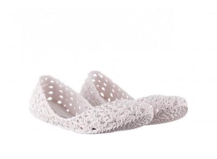 Baleriny Melissa Campana Crochet Ad White, Biały, Guma