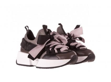 Sneakersy Sca'viola E-32  Graphite, Szary, Skóra naturalna