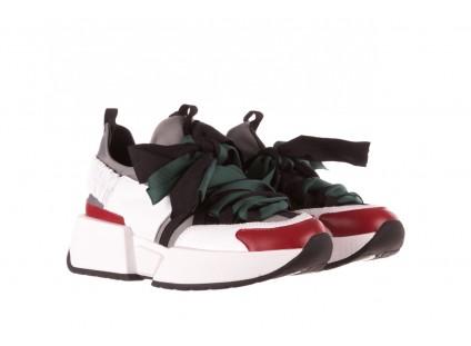Sneakersy Sca'viola E-33  Green, Zielony, Skóra naturalna