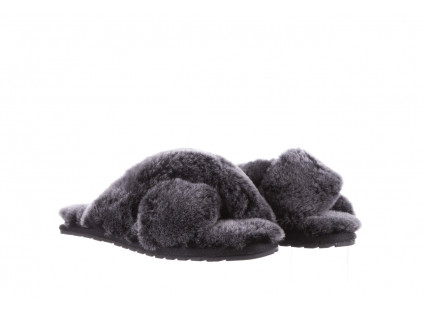 Kapcie Emu Mayberry Frost Black 21 119140, Czarny, Futro naturalne