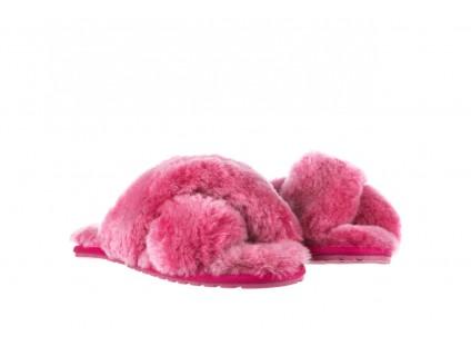 Klapki Emu Mayberry Frost Berry, Róż, Futro naturalne