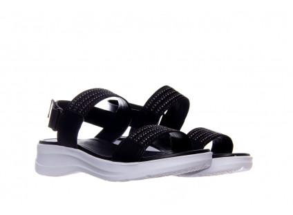 Sandały Azaleia 330 561 Black,  Czarny, Skóra ekologiczna