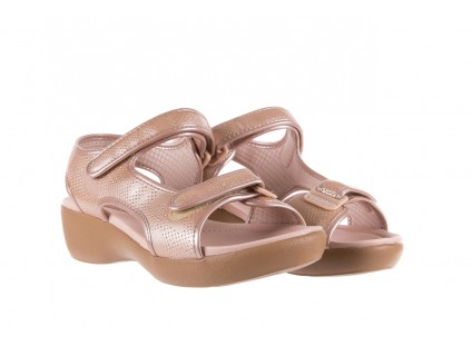 Sandały Azaleia 346 602 Perf Iguan, Róż, Materiał
