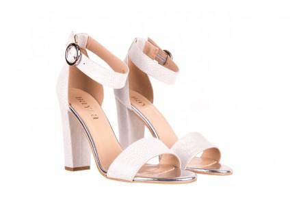 Sandały Bayla-056 8024-1332 Białe Sandały, Skóra naturalna