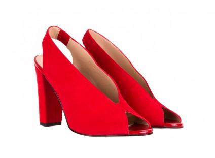 Bayla-056 8043-28 Czerwone Sandały
