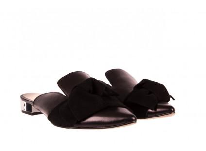 Klapki Bayla-097 01 Czarne Klapki, skóra naturalna