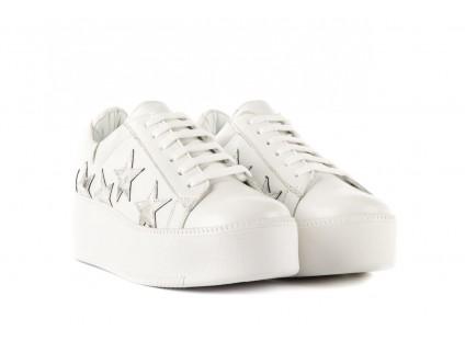 Trampki Bayla-123 5502102 White, Biały, Skóra naturalna