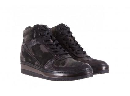 Sneakersy Bayla-131 4002 Woodland, Moro, Skóra naturalna