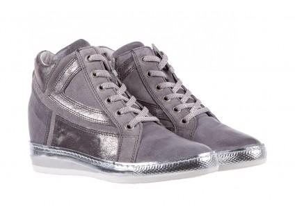 Sneakersy Bayla-131 7103 Grigio, Szary, Skóra naturalna