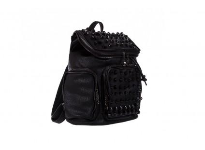Plecak Bayla-150 Plecak S16-277 Black, Czarny, Skóra ekologiczna