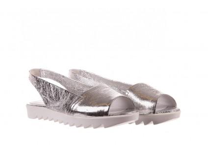 Sandały Bayla-163 319-310 614 Silver, Srebrny, Skóra naturalna