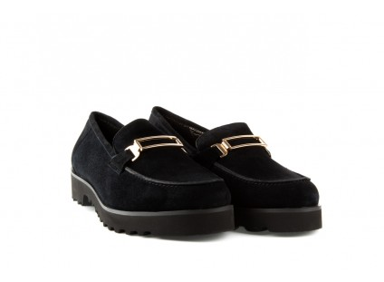 Bayla-018 1663-3 Black Kid Suede