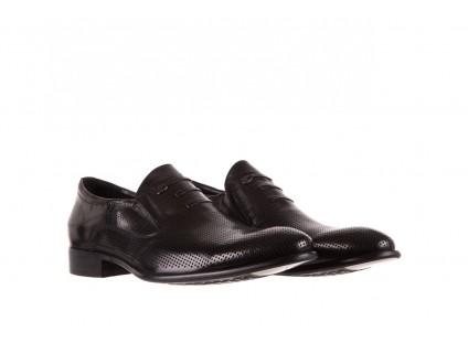 Półbuty Brooman DC56-119-A689 Black, Czarny, Skóra naturalna