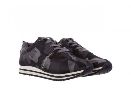 Trampki Calvin Klein Jeans Everly Camouflage Jacquard Dark Grey, Szary, Materiał