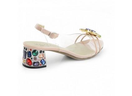 Sandały Sca'viola G-25 Nude, Róż, Silikon