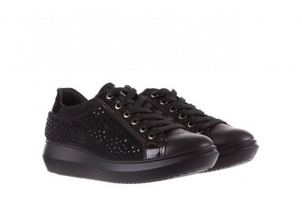 Sneakersy Imac 207300 Black, Czarny, Skóra naturalna