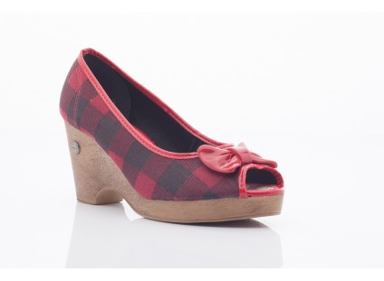 DIJEAN 715 716 RED PLAID