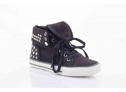 Trampki Pepe Jeans PFS50409 999 Black, Czarny, Tkanina