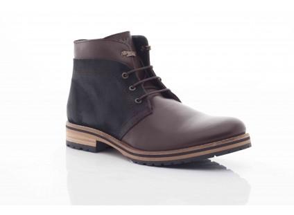Trzewiki Armani Jeans U6593 Brown-Black, Brąz/ Czarny, Skóra naturalna