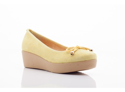 Bayla 1302-3 Yellow Kid Suede Pat