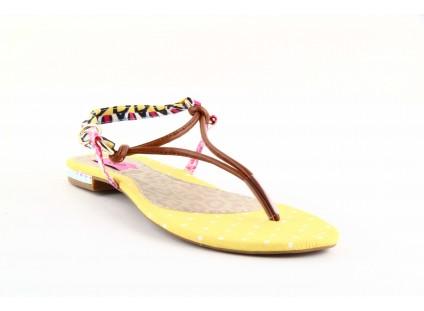 Sandały Dijean 355 754 Np. Hazelnut Poa, Żółty, Skóra ekologiczna