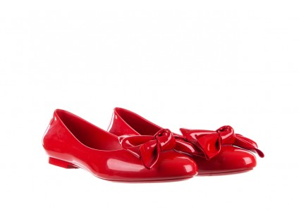 Baleriny Melissa Doll Fem II Ad Red, Czerwony, Guma
