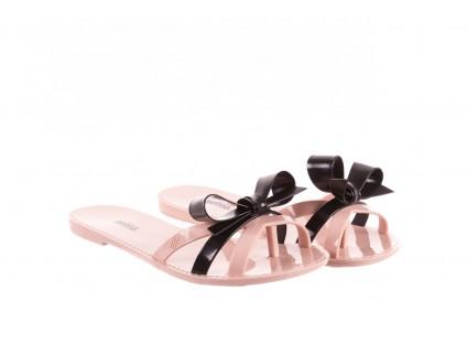 Klapki Melissa Fluffy Ad Pink Black, Róż/Czarny, Guma