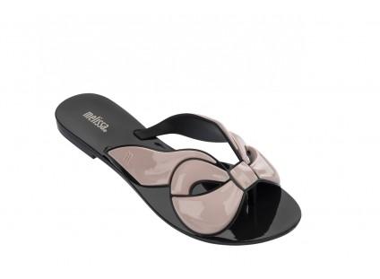 Klapki Melissa Harmonic Maxi Bow Ad Black Pink, Róż/Czarny, Guma
