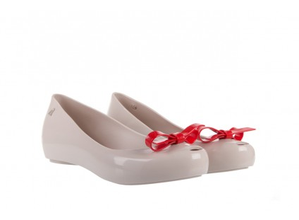 Melissa Ultragirl Bow Ad Beige/Red