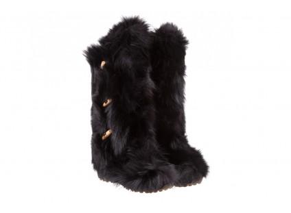 Śniegowce Oscar Yukon Black, Czarny, Futro naturalne